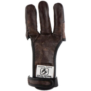 دستکش باکتریل مدل Leather Full Palm Buffalo With Brown Fingertips