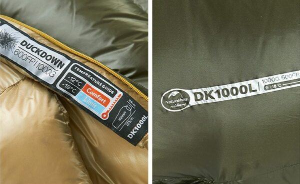 کیسه خواب پر نیچرهایک مدل NH01 Down DK400L