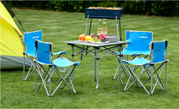 میز و صندلی نیچرهایک مدل Aluminum Alloy Five Sets