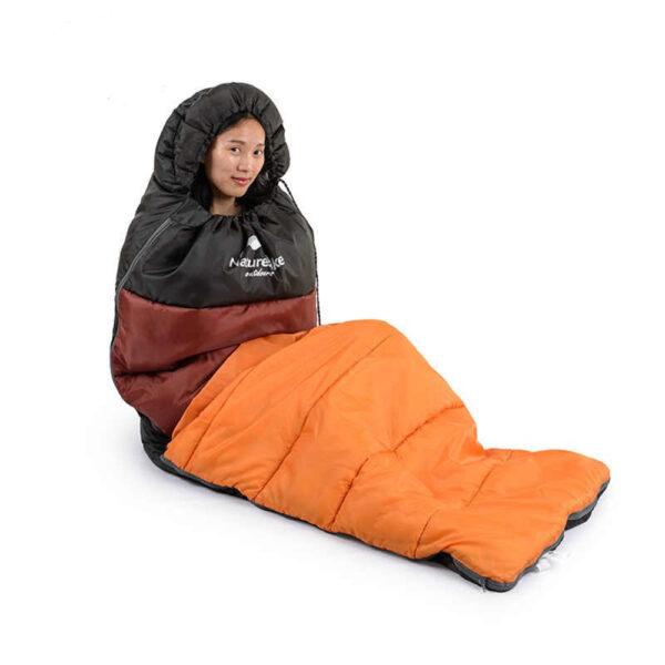 کیسه خواب الیاف نیچرهایک مدل Envelope Style With Hood U250