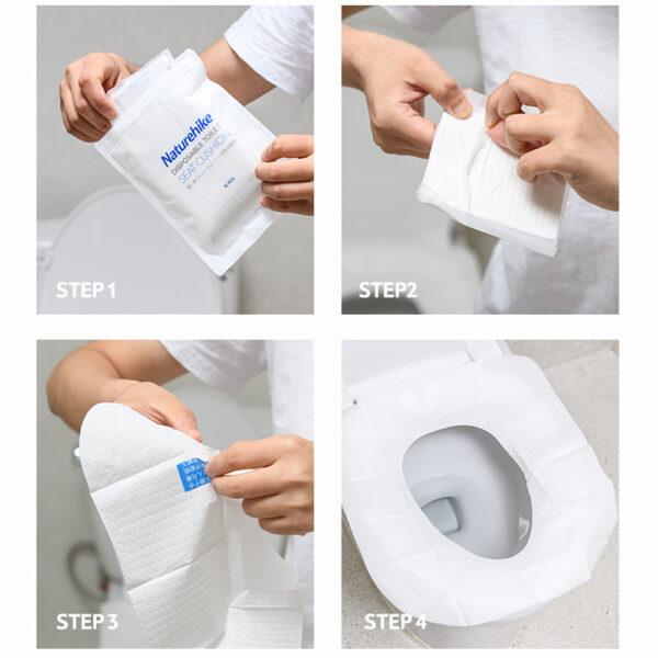 کاور توالت فرنگی نیچرهایک بسته 10 عددی