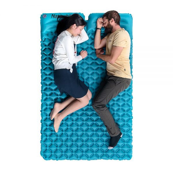 تشک بادی دونفره نیچرهایک مدل Egg-Tray Construction With Pillow