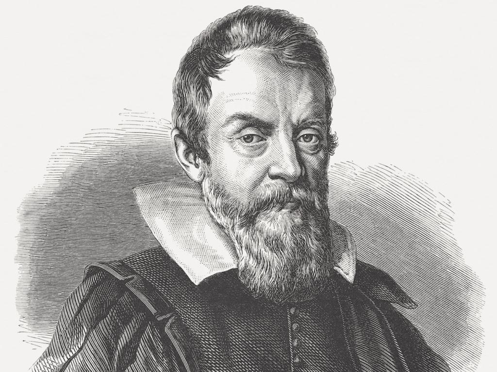 تصویری از گالیله مخترع تلسکوپ