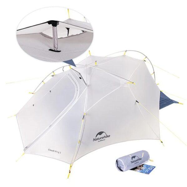 چادر دو نفره نیچرهایک مدل CloudUp Wing 2 Men Cuben Tent