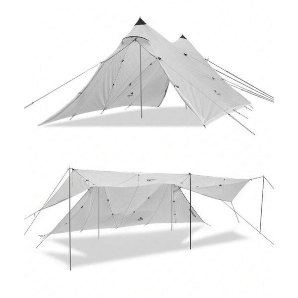 سایه بان نیچرهایک مدل Double A Tower Large Canopy Twin Peaks 40D