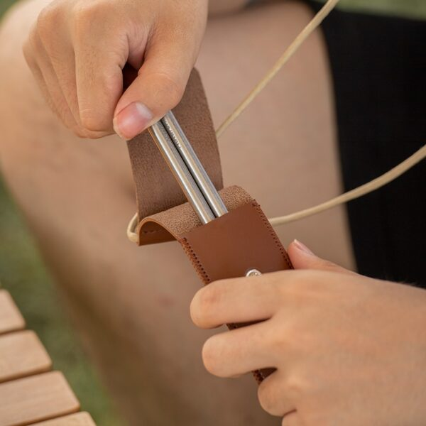 چاپ استیک نیچرهایک مدل Foldable Wood Steel Chopsticks