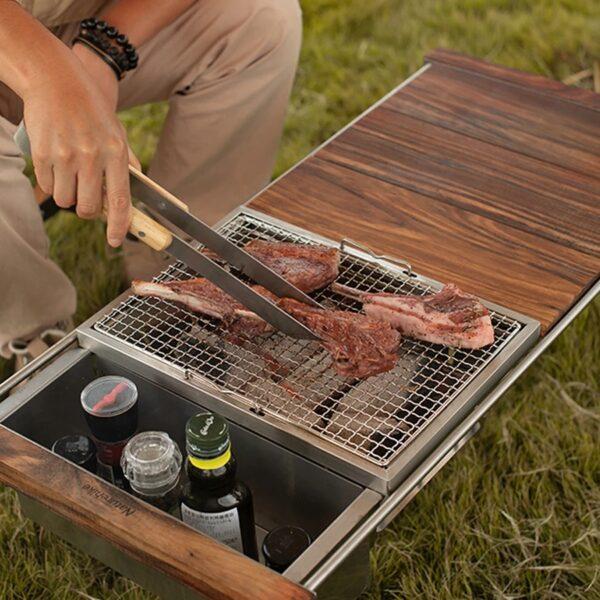 ست ابزار باربیکیو نیچرهایک مدل 4PCS BBQ Grilling Tools