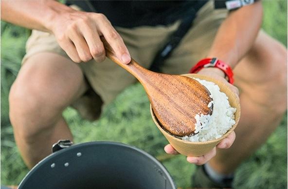 ملاقه چوبی نیچرهایک مدل Solid Wood Rice Spoon