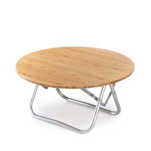 میز نیچرهایک مدل Foldable Bamboo Round Table