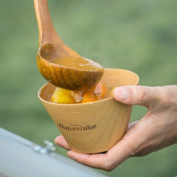 کاسه چوبی نیچرهایک مدل Solid Wood Bowl