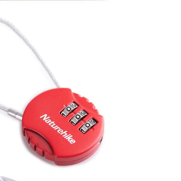 قفل رمزدار نیچرهایک مدل Three Digit Round Steel Wire Password Lock