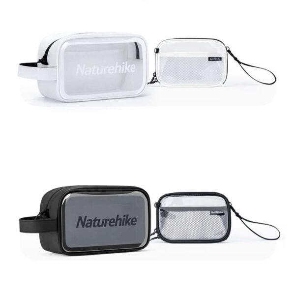 ست کیف لوازم آرایشی بهداشتی نیچرهایک مدل Transparent PVC