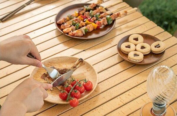 بشقاب چوبی نیچرهایک مدل Solid Wood Dish