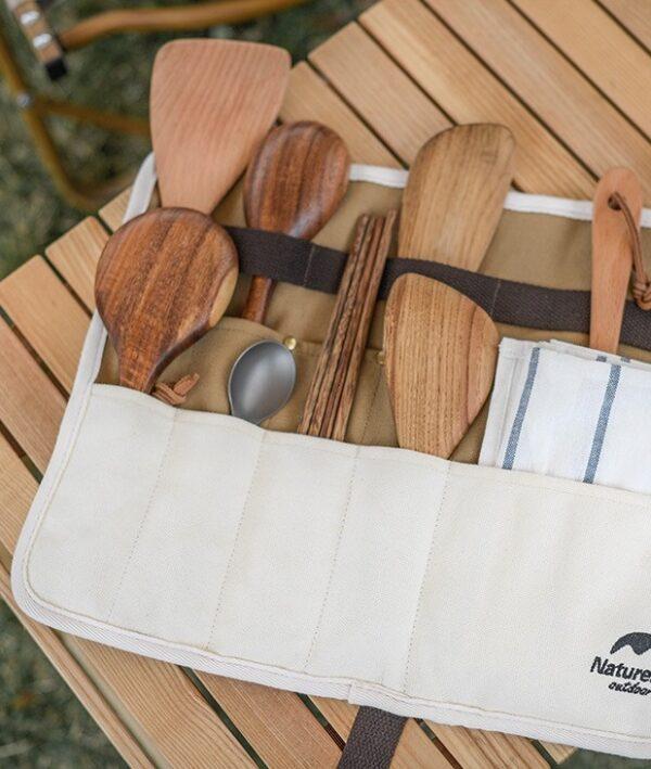 ارگانایزر قاشق و چنگال نیچرهایک مدل Canvas Tableware Storage Bag