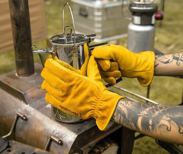 دستکش نیچرهایک مدل GP-01 Leather Work Gloves